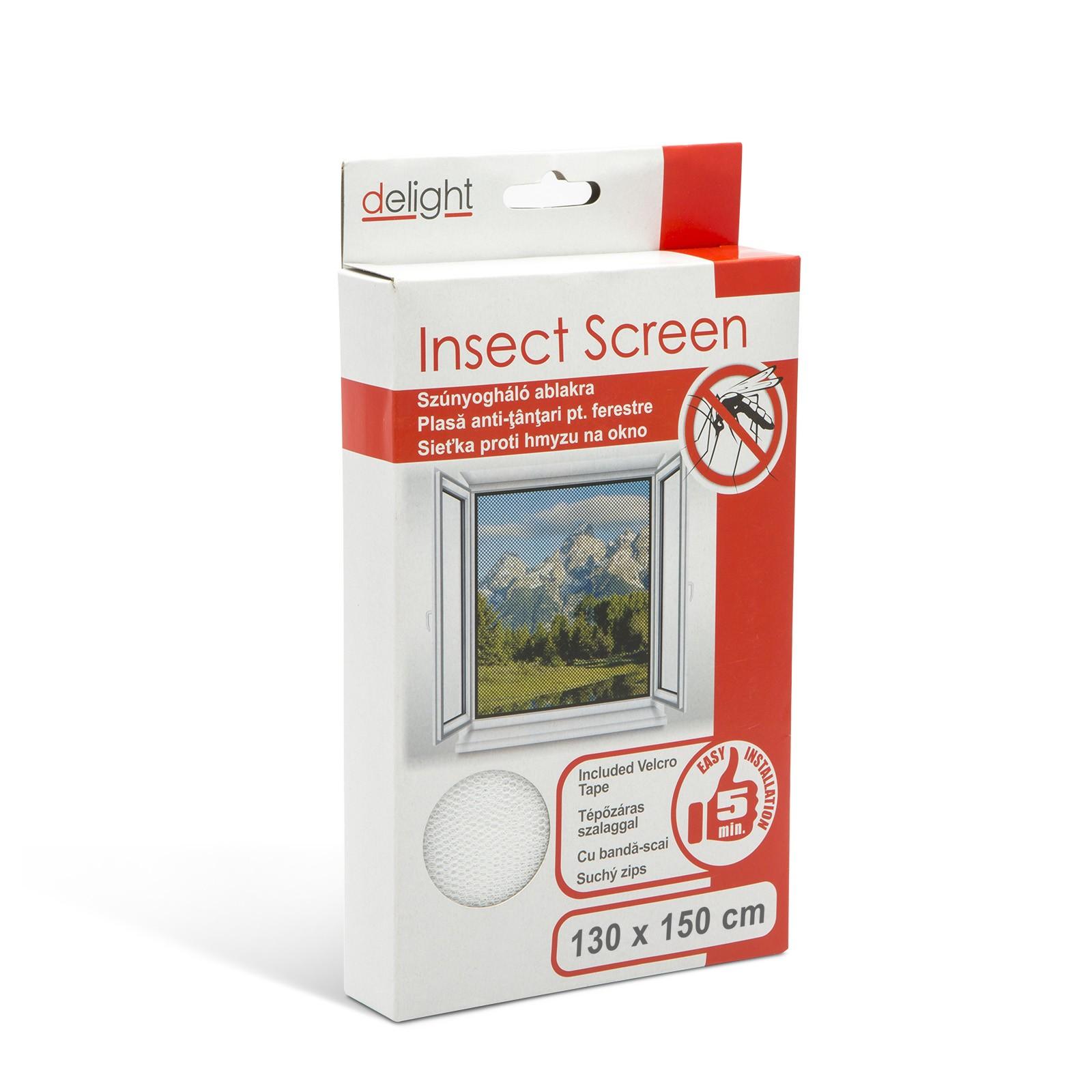 Sieťka proti hmyzu na okno 130x150cm biela
