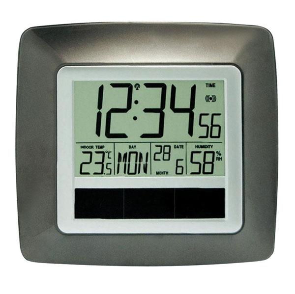 Digitálne hodiny DCF nástenné solárne WS8112