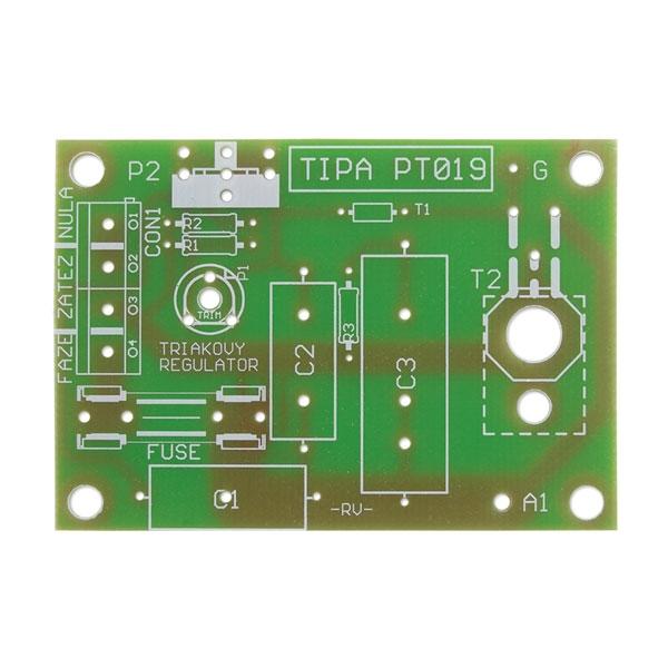Plošný spoj k stavebnici Triakový regulátor výkonu 230V/12A PT019