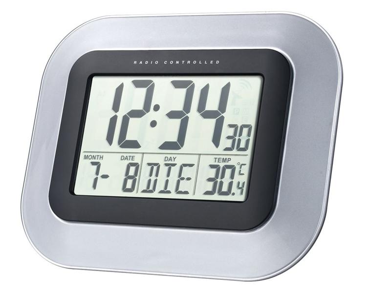 Digitálne hodiny DCF nástenné WS8005