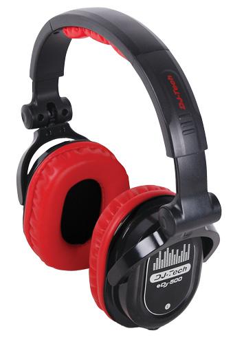 Ľahké profesionálne slúchadlá DJ-tech určené pre DJ-ov EDJ500
