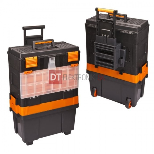 a86a2e64b9323 Plastový kufrík / box na náradie na kolieskach - Kufríky a plastové ...