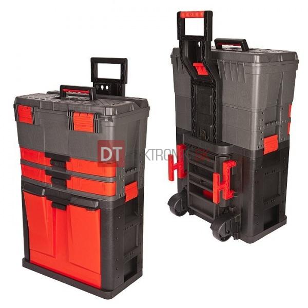 9546e22270bbf Plastový kufrík na náradie na kolieskach - Kufríky a plastové boxy ...