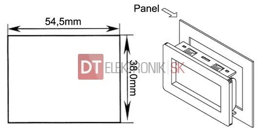 panelov u00e9 meradlo 199 9mv pm438el lcd voltmeter panelov u00fd
