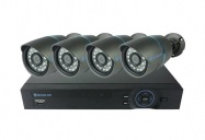 Kamera set SECURIA PRO A4CHV1 800 TVL 4CH DVR + 4x IR CAM analog